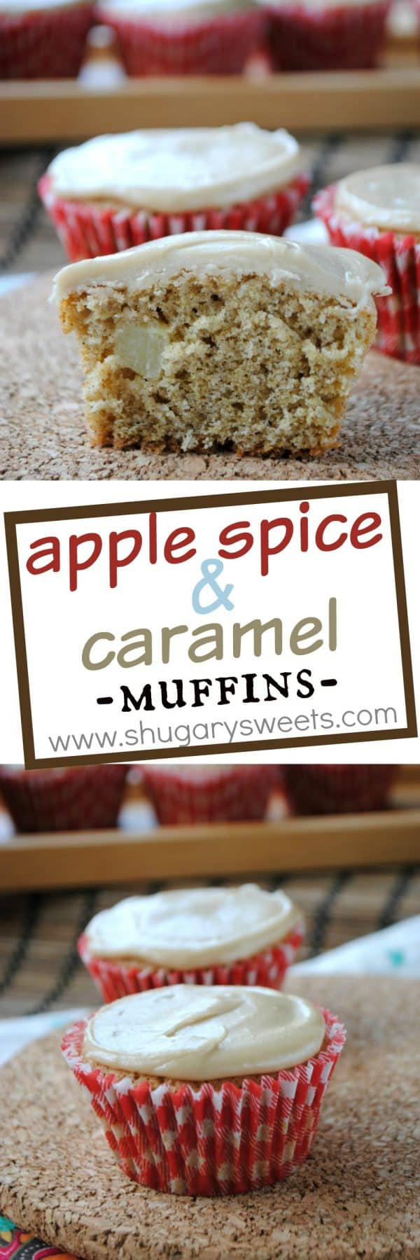 Apple Spice Muffins with Caramel Glaze: perfect recipe for breakfast, brunch or dessert!