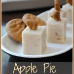 """Apple Pie Fudge: delicious soft fudge with apple pie filling inside. Topped with a gingersnap """"crust"""""""