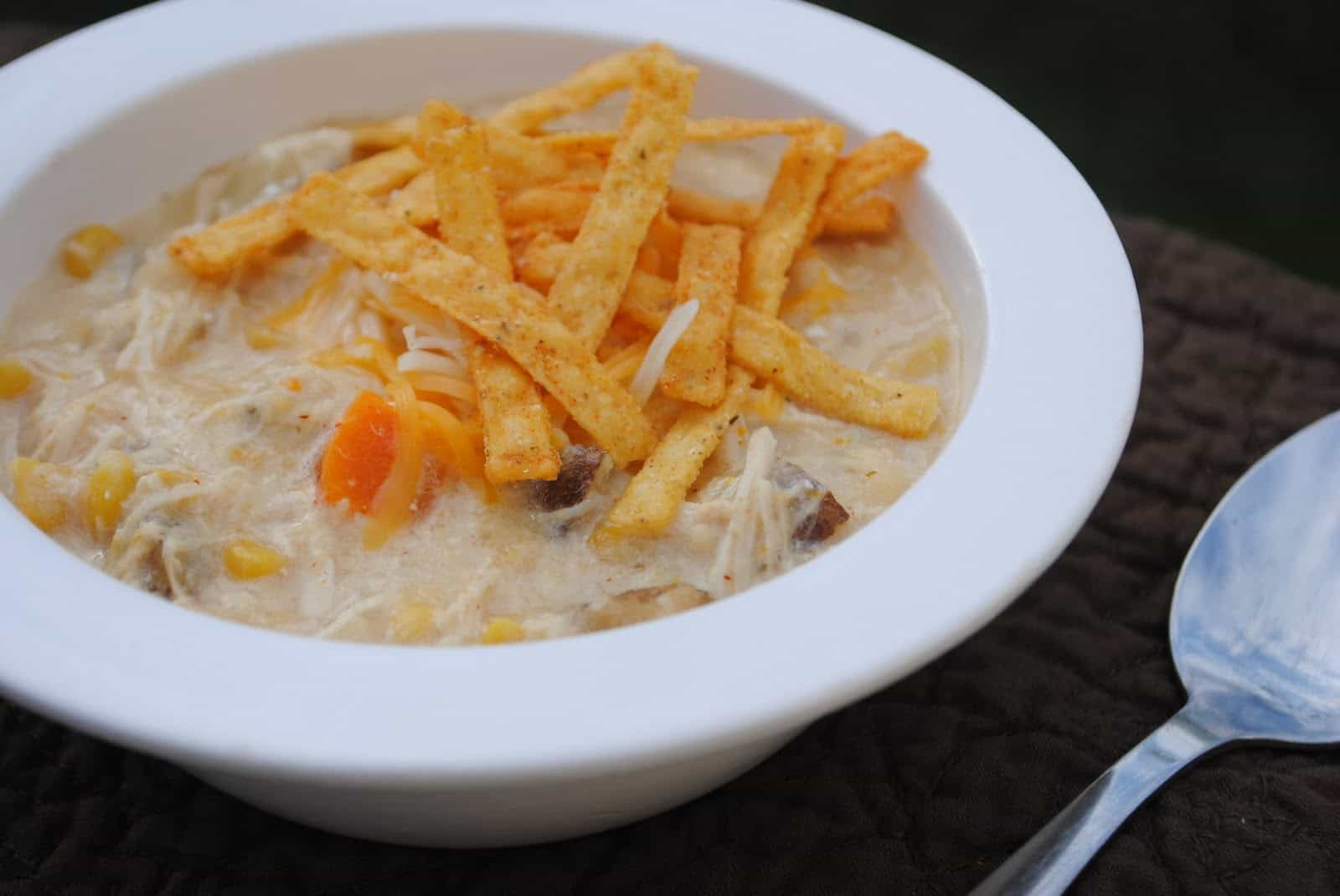Chicken, Corn and Potato Chowder - Shugary Sweets