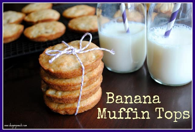 Banana Muffin Tops: it's the best part of the muffin anyway, right?