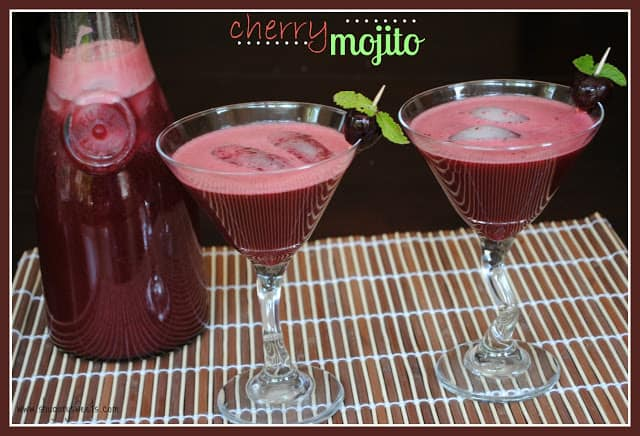 Cherry Mojitos: the flavor of a minty mojito with a sweet cherry kick!