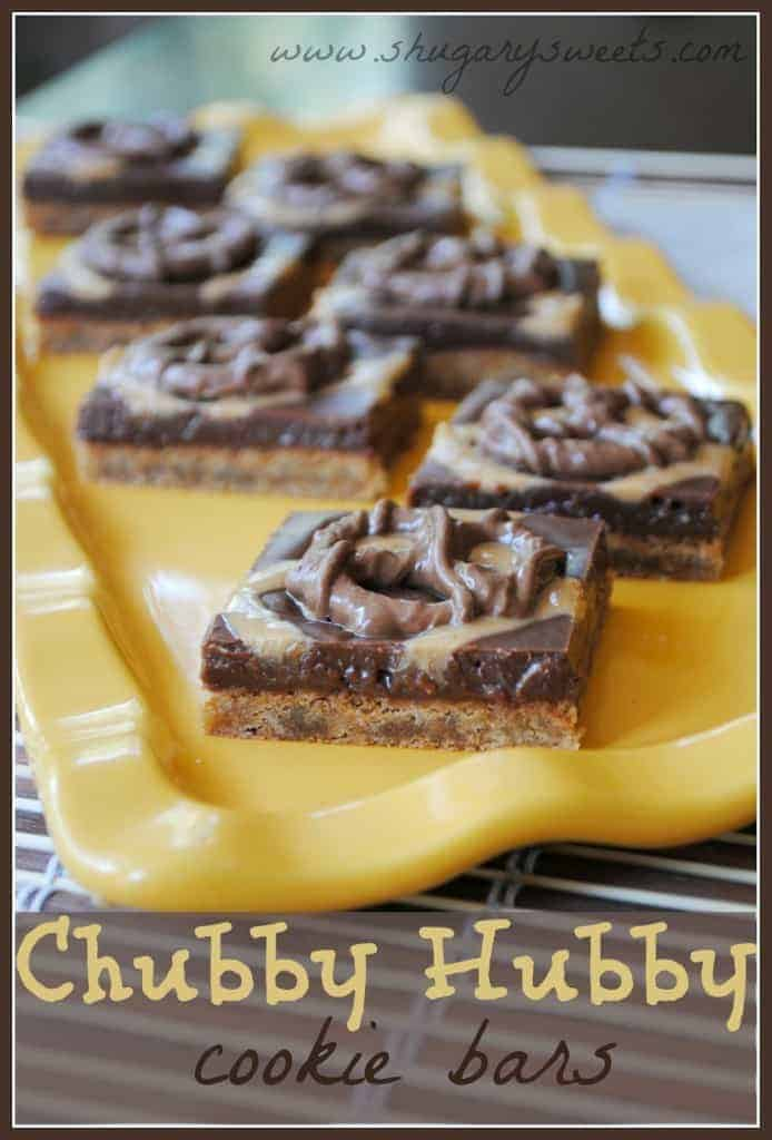 Chubby Hubby Cookie Bars : another chewy cookie base topped with fudge ...