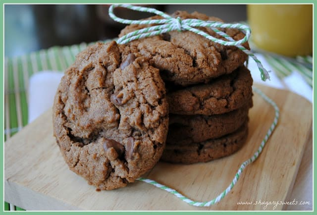 Chocolate Mocha Nutella Cookies: so rich and delicious you will want more! #nutella #mocha @shugarysweets