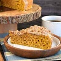 Pumpkin Coffee Cake with Cinnamon Streusel