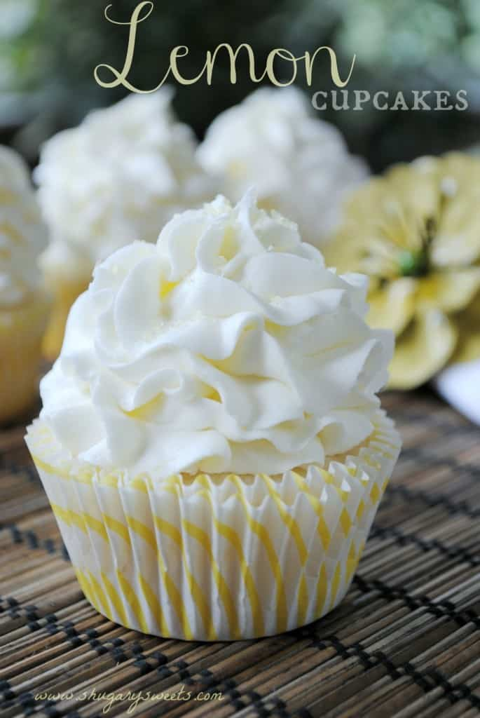 Lemon Cupcakes The Best White Cake Batter From Scratch With A Hint Of Lemon