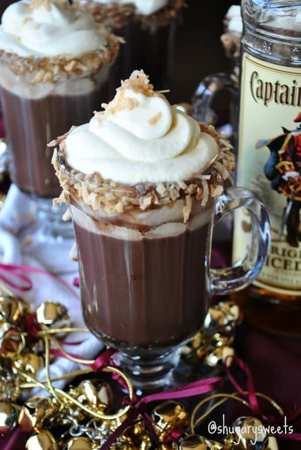 Hot Chocolate Santa Hat Brownies- hot cocoa mix in the brownies, topped with #coolwhipfrosting #santa #christmas www.shugarysweets.com