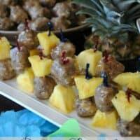 Rum Glazed Tropical Meatball Skewers