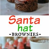 Hot Chocolate Santa Hat Brownies