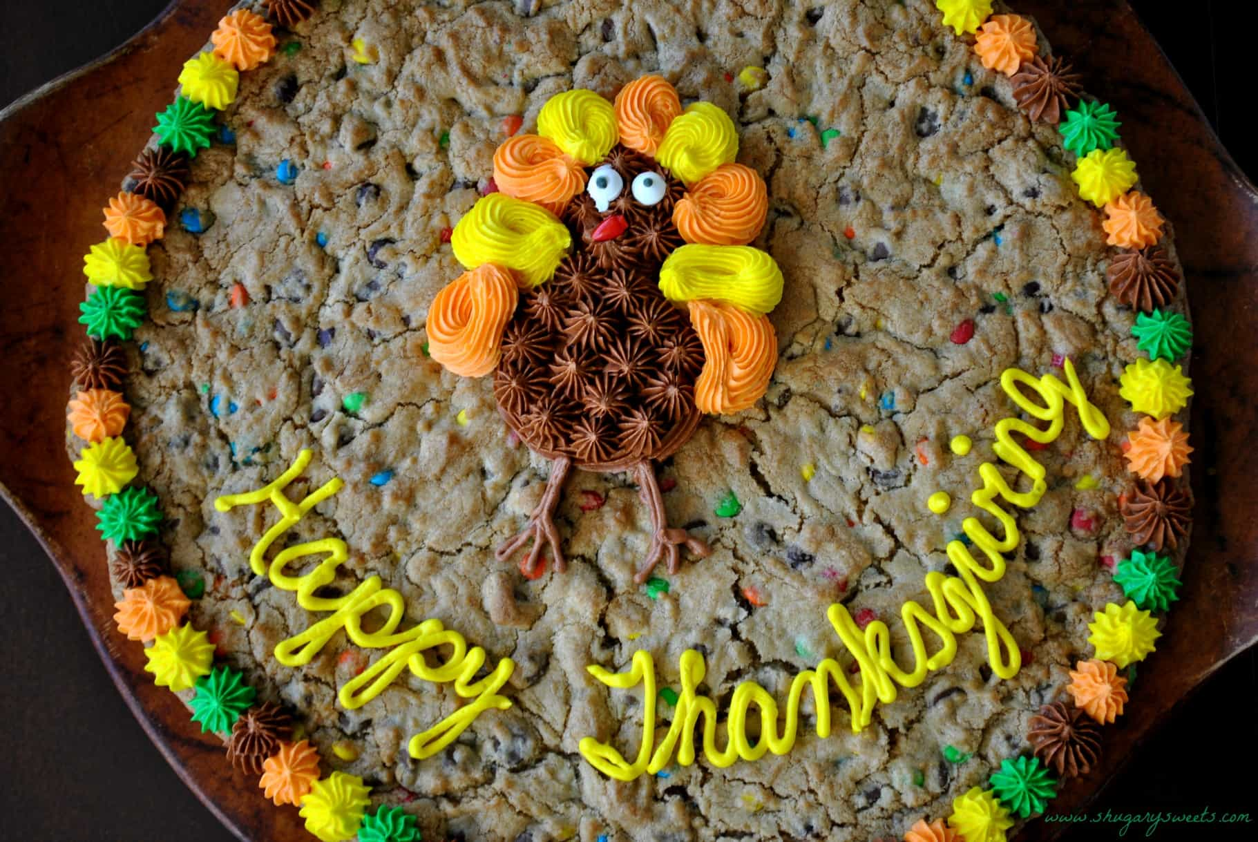 Thanksgiving cookie cake and a turkey day roundup for M m cake decoration ideas