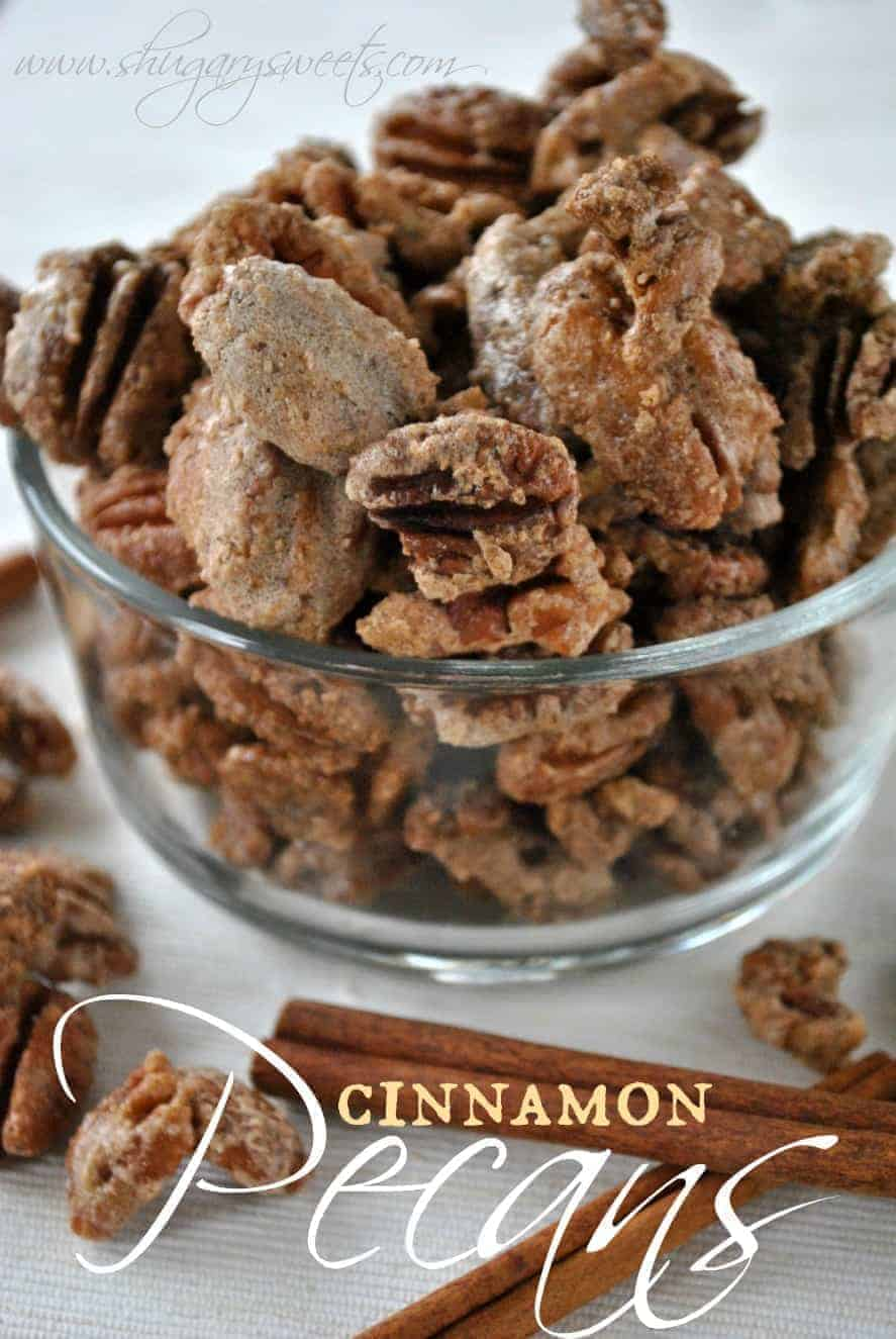 Candied Cinnamon Pecans - Shugary Sweets