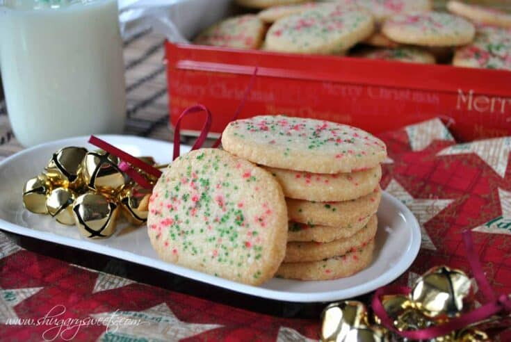 Jingles Cookies: sweet shortbread cookies with anise extract. You'll love these melt in your mouth Christmas cookies!
