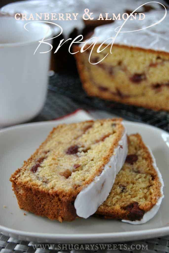 If you love homemade quick bread, this Cranberry Almond Quick Bread recipe is perfect. Bakes up two freezer friendly loaves!