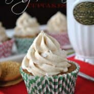 Gingerbread Cupcakes- sweet gingerbread cupcakes with crushed #gingerbread #oreos from www.shugarysweets.com #cupcake