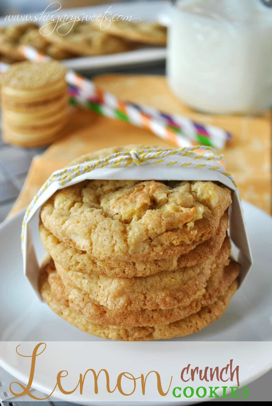 Shugary Sweets: Lemon Crunch Cookies {Heirloom Cookie Sheets Giveaway
