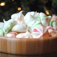 Minty Meringue Cookies- light and minty for #christmas www.shugarysweets.com