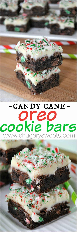 Candy Cane Oreo Cookies Bars Shugary Sweets