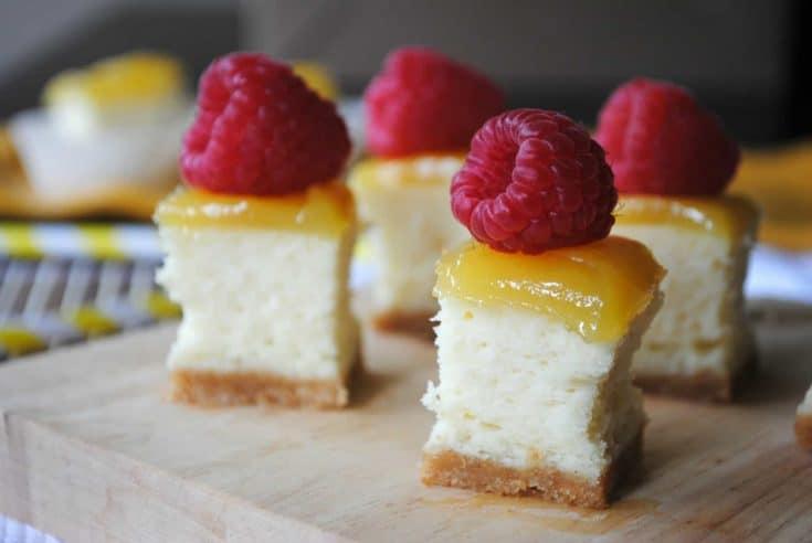 Lemon Raspberry Cheesecake Bites Shugary Sweets