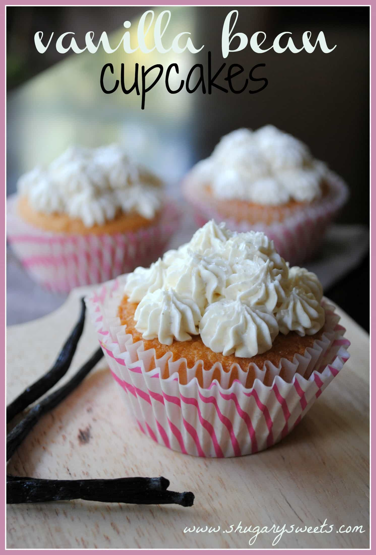 Vanilla Bean Cupcakes with Vanilla Bean Frosting from www ...