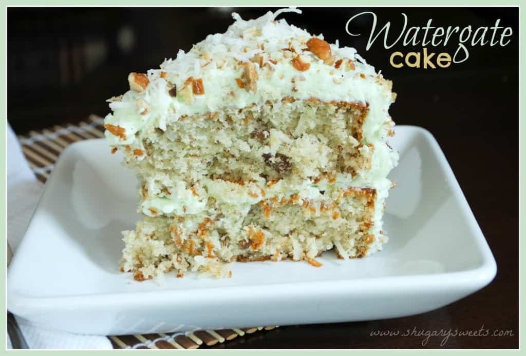 Watergate Cake- moist #pistachio pudding cake with pecans and coconut ...
