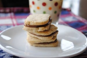 simple shortbread cookies sandwich two classic shortbread cookies with ...