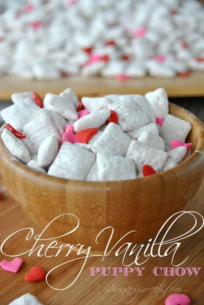 Cherry Vanilla Puppy Chow  Easy, Delicious Puppy Chow With Cherry Gelatin # Valentines #
