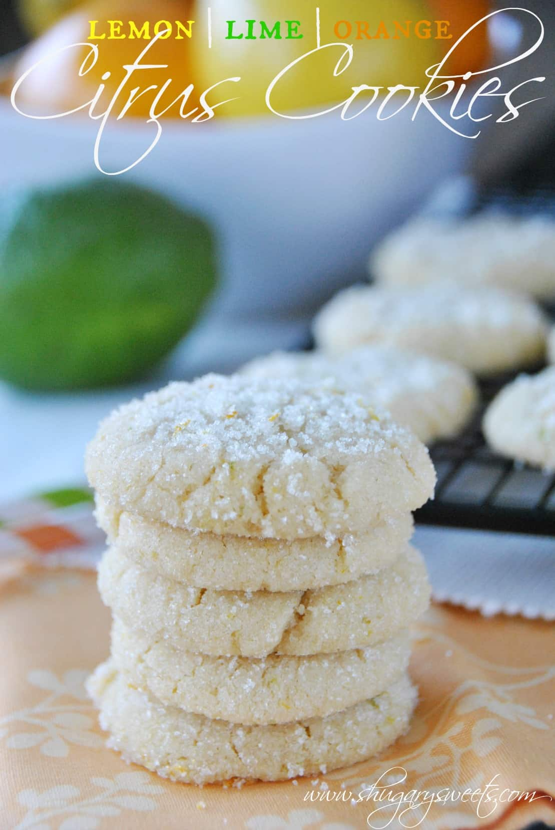 Shugary Sweets: Orange, Lemon And Lime Citrus Cookies