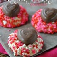 Vanilla Bean Valentine's Cookies with Chocolate Hearts