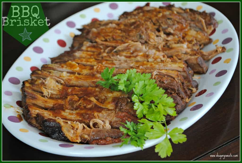 Slow Cooker BBQ Brisket: from www.shugarysweets.com