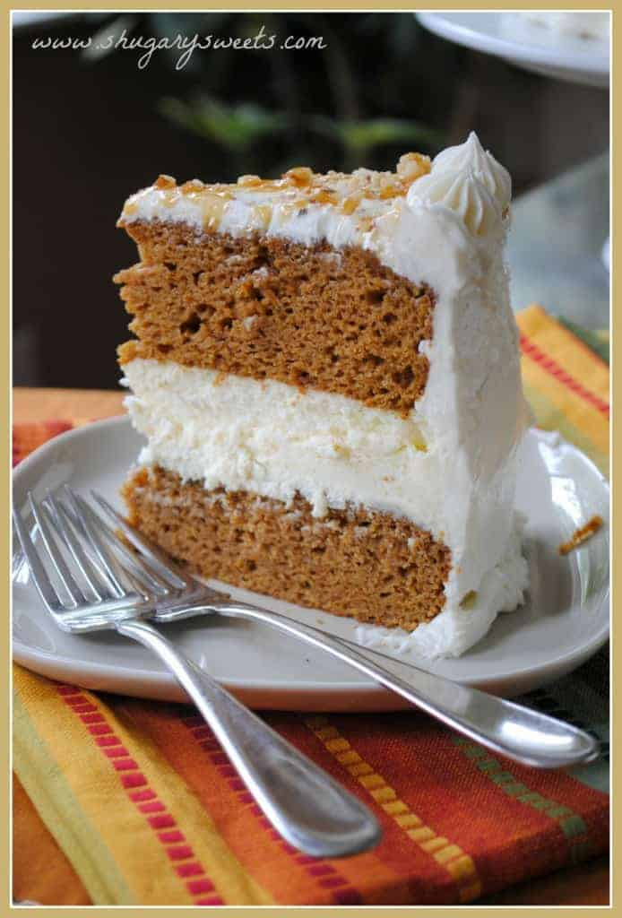 Pumpkin Cheesecake Cake from www.shugarysweets.com