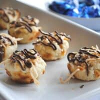 Caramel Coconut Kiss Cookies