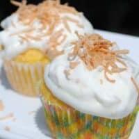 Pineapple Coconut Cupcake