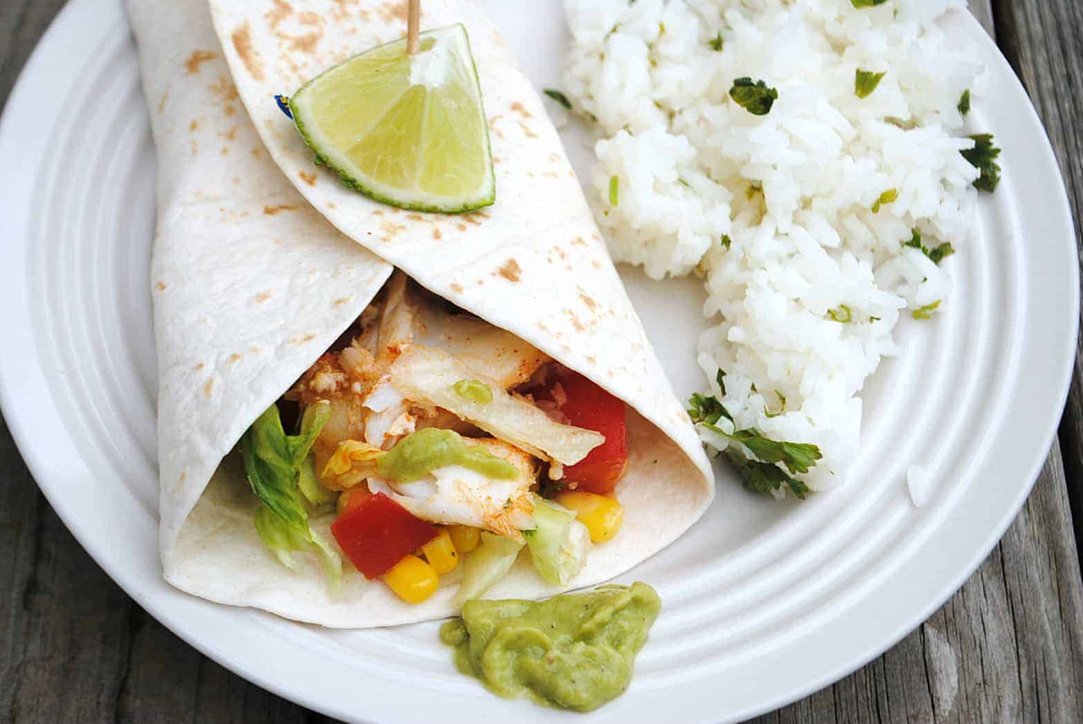 Spicy grilled fish with citrus slaw shugary sweets for Fish taco dressing
