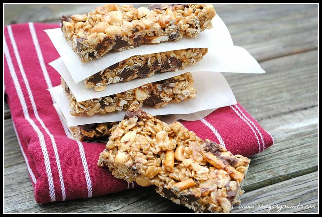 Chocolate Chip Granola Bars from www.shugarysweets.com