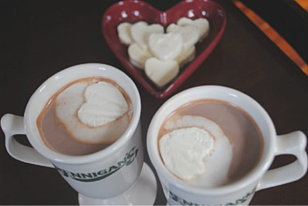 Homemade Hot Cocoa with peppermint Whipped Cream