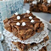 Salted Caramel Hot Cocoa Bars