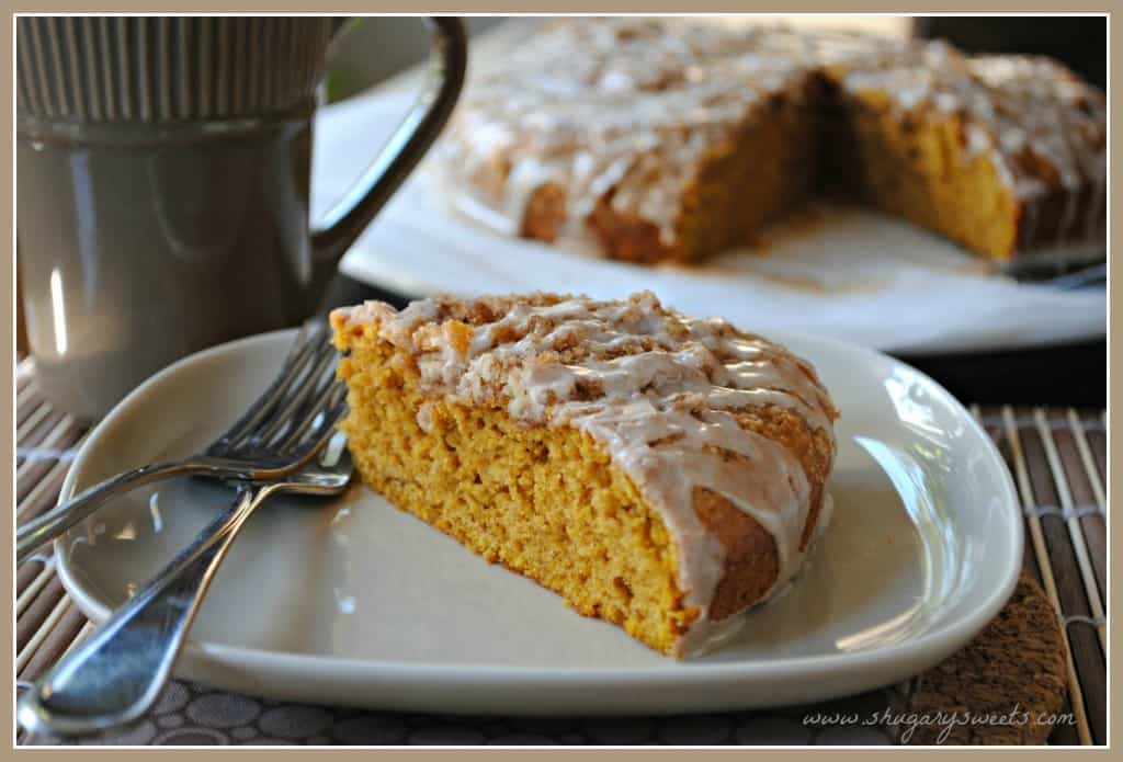 Pumpkin Coffee Cake from www.shugarysweets.com
