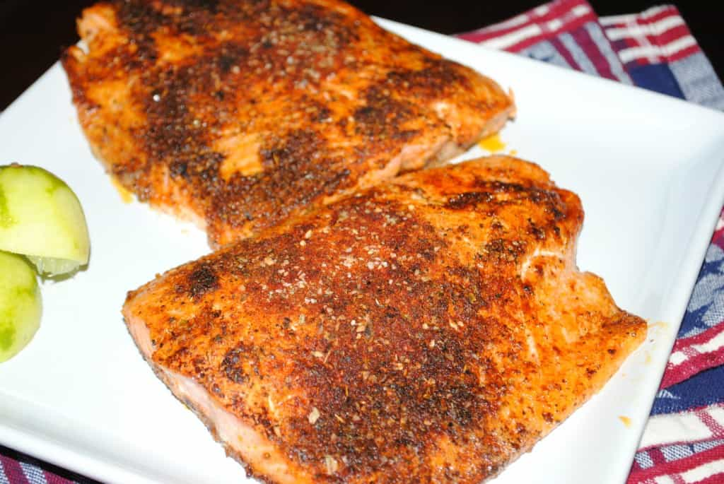 Blackened Salmon from www.shugarysweets.com