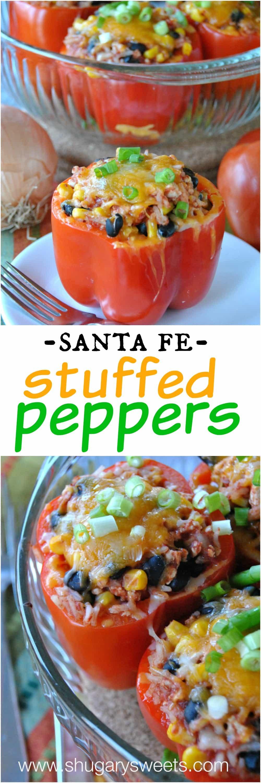 Santa Fe Turkey Stuffed Peppers Recipe — Dishmaps