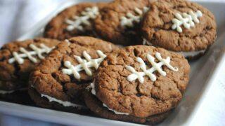 Chocolate Oatmeal Cream Pie Footballs