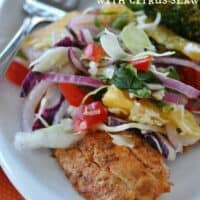Spicy Grilled Fish with Citrus Slaw