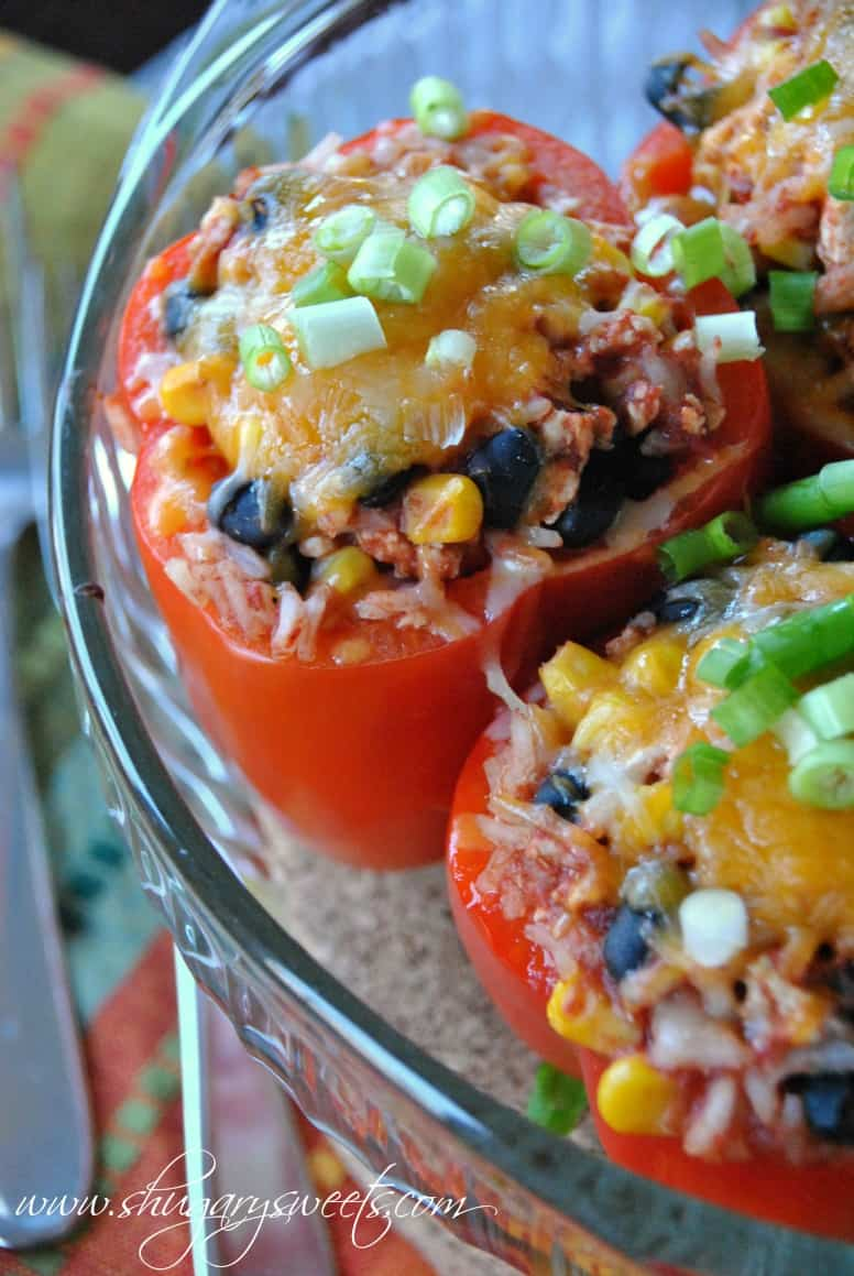Santa Fe Stuffed Peppers: a healthy dinner made with ground turkey ...