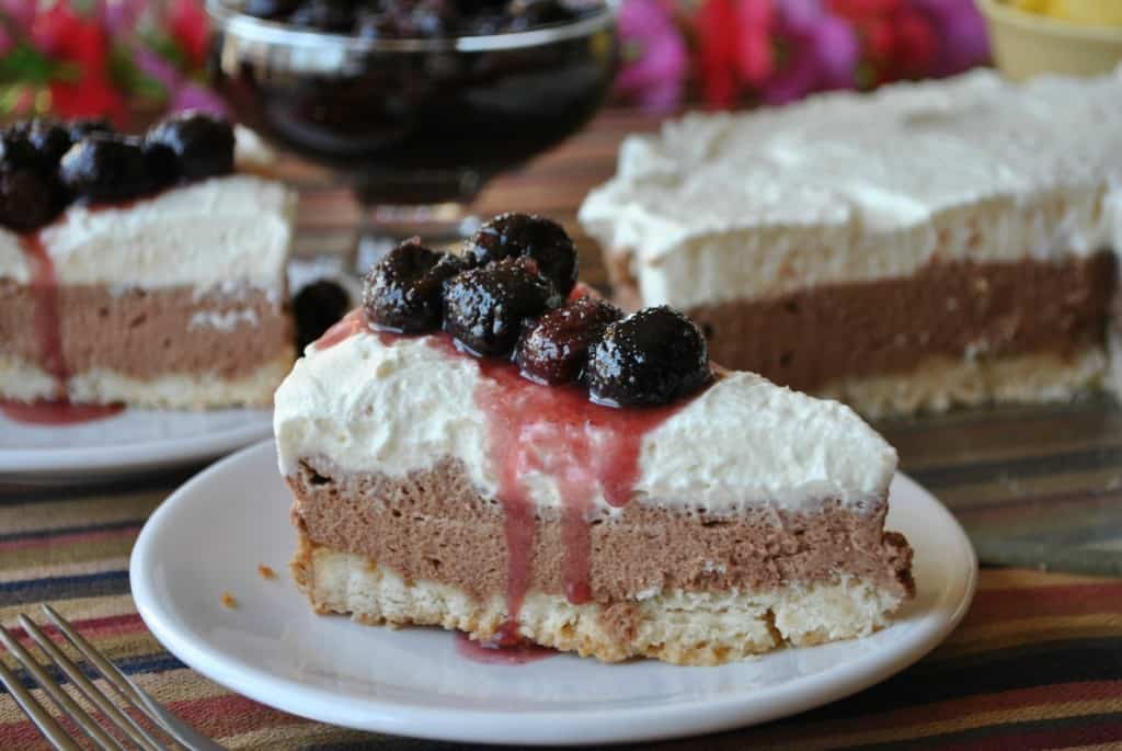 Drunken Chocolate Cherry Torte