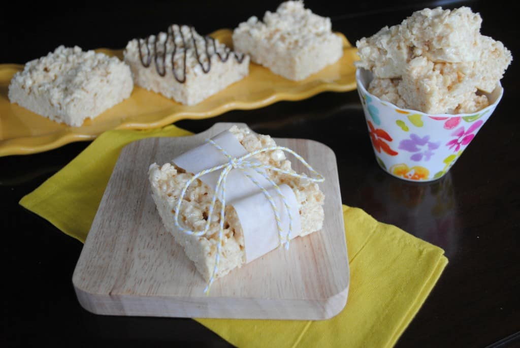 Banana Rice Krispie Treats from www.shugarysweets.com