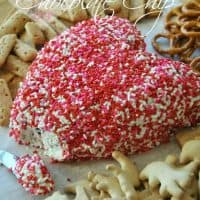 Toffee Chocolate Chip Valentine's Day Cheeseball