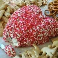 Toffee Chocolate Chip Valentine's Day Cheeseball