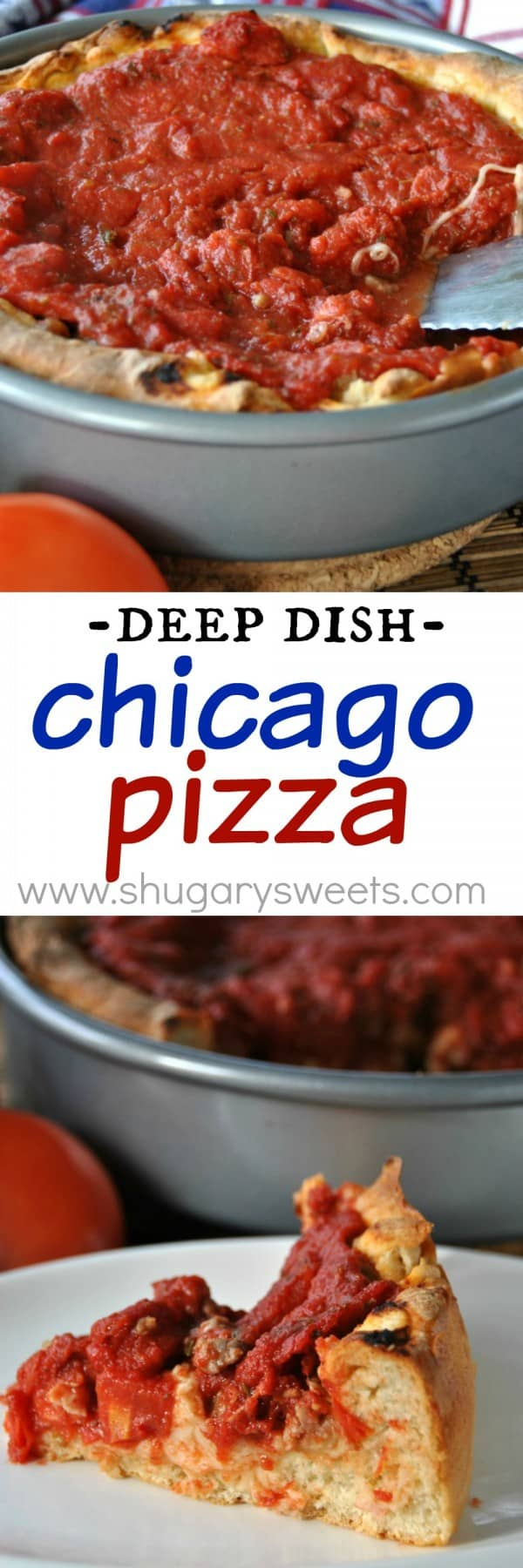 Deep Dish Chicago Style Pizza- make your own deep dish pizza at home!