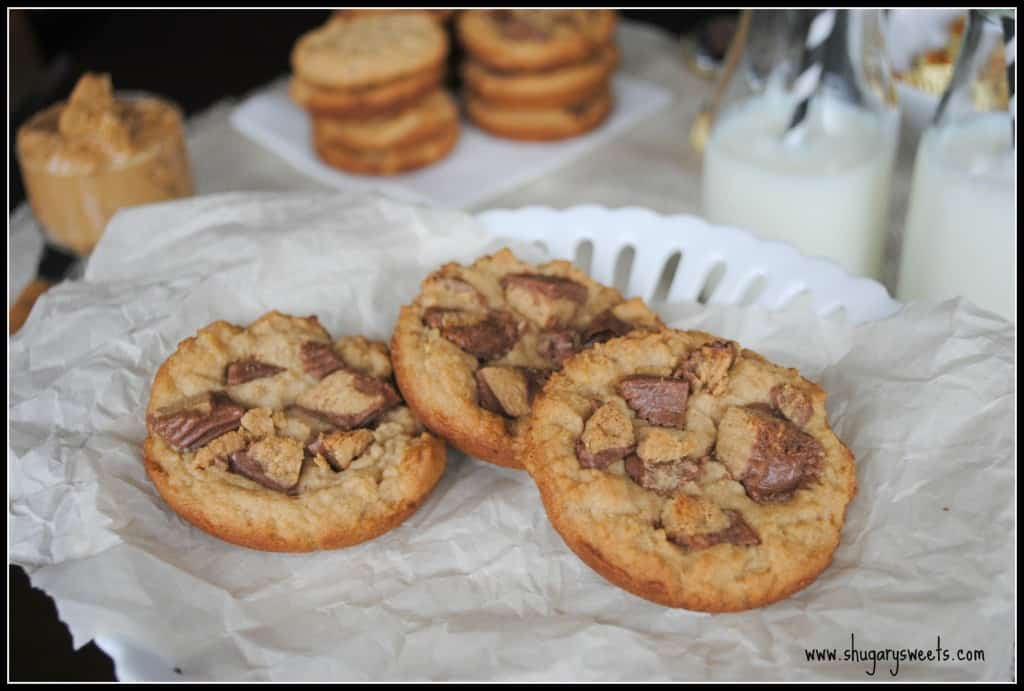 Reese's PB Cup cookies from www.shugarysweets.com