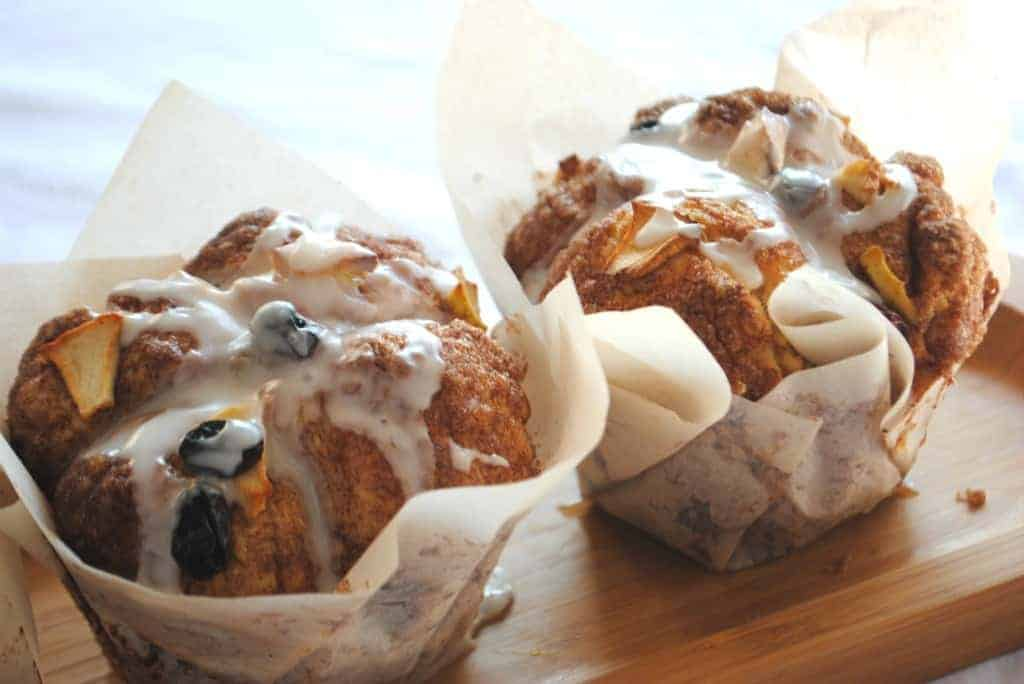 Apple Raisin Cobblestone Muffins