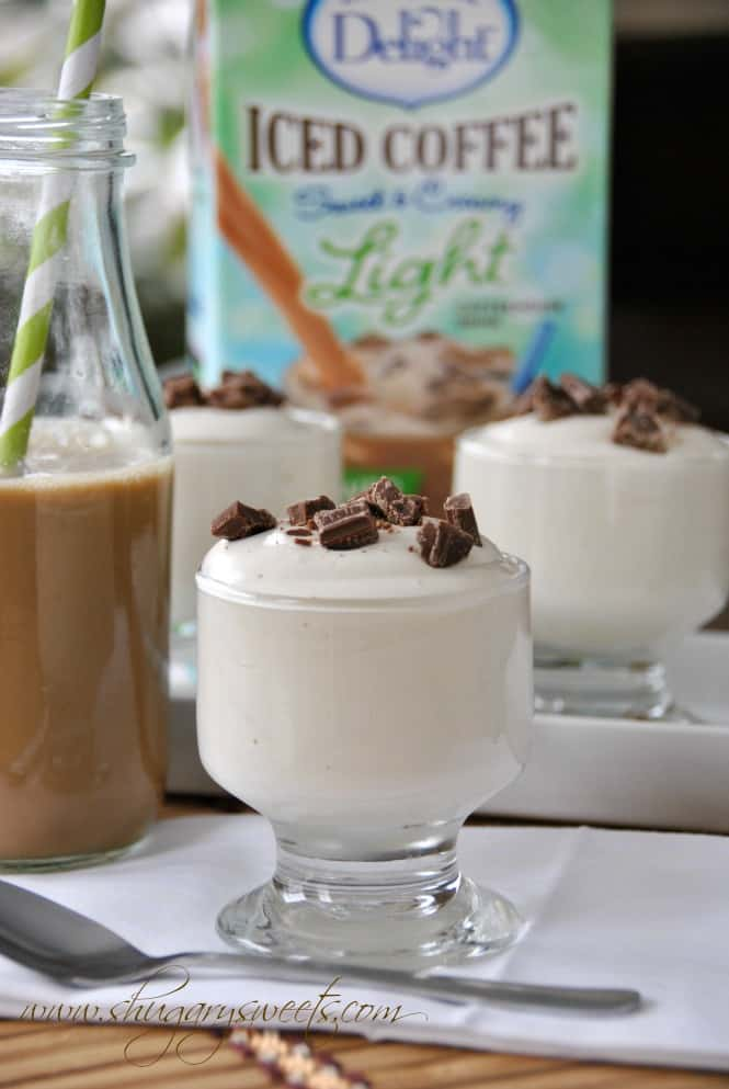 Vanilla Iced Coffee Pudding #LightIcedCoffee - Shugary Sweets