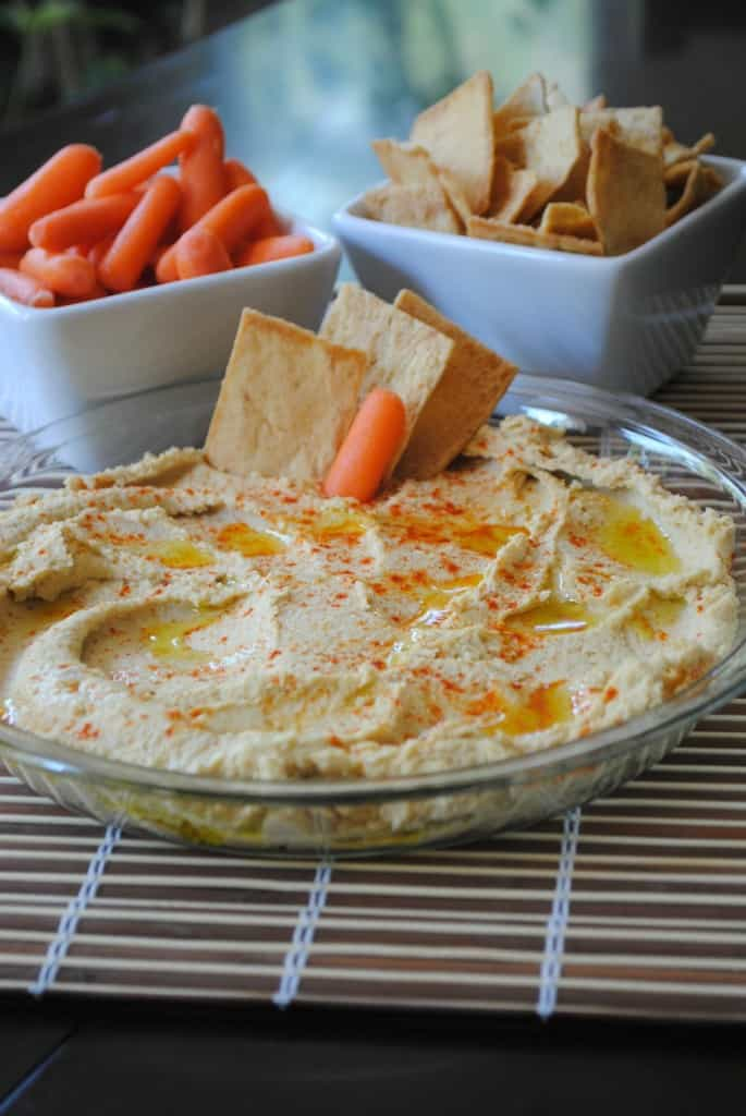 Garlic Hummus from www.shugarysweets.com